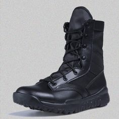 Outdoor Lightweight Desert Tan/Black Military Tactical Boots Special Field Combat Boot Outdoor Training Boot