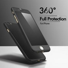 Luxus 360 grad full cover case für apple iphone 6 6 s 7 plus + nano glas iphone6 iphone7 plus handy case capa Coque