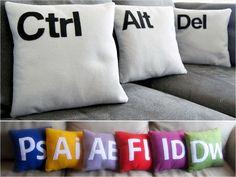Decoração nerd, almoçadas inspiradas em programas de computador e a famosa combinação ctrl+alt+del