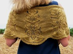 Seaside Shawlette Knit Along... just different enough I might have to do this one....