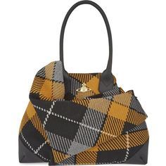 36c6cb81da27 VIVIENNE WESTWOOD Winter tartan large tote ( 705) ❤ liked on Polyvore  featuring bags