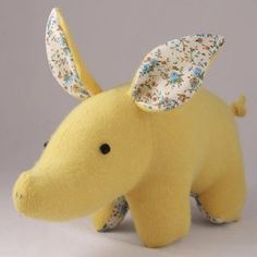 Theodore now featured on Fab. [Pig plush, Caitlin Wicker, Sweatertoys]