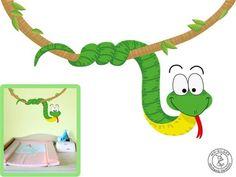 Lovely Wandtattoo Schlange Kinder Kinderzimmer Kinderdeko von MHBilder