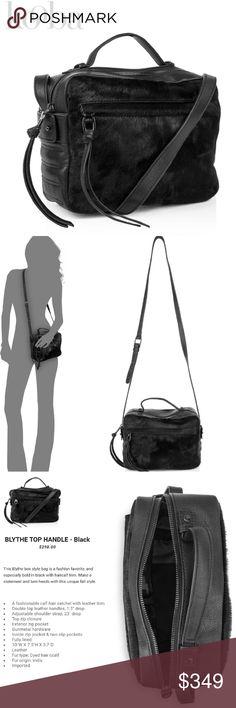 "💯%🆕 {kooba} leather & calf hair crossbody bag Kooba * Black  Bag / Purse / Crossbody / Satchel  * A fashionable calf hair satchel with leather trim * Double top leather handles, 1.5? drop * Adjustable shoulder strap, 23"" drop * Top zip closure * Exterior zip pocket * Gunmetal hardware * Inside zip pocket & two slip pockets * Fully lined * 10""W X 7.5""H X 3.7""D * Leather & Calf Hair Fur * NEW - GUARANTEED AUTHENTIC * CURRENT MSRP $298 + tax + ship * PRICE FIRM - SHIPS FREE  * Trend * Fall…"