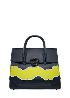 Palazzo Empire Wave Leather Bag