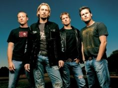 Nickelback... love 'em! My Favorite band...have seen them in concert 3 times!!!!!!!!!!!