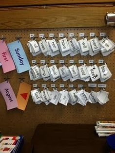 sight word rings. I so want to be organized enough to do this.
