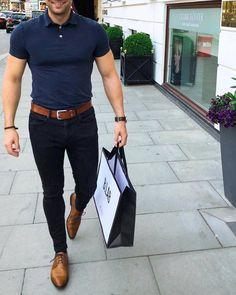 New moda hombre casual fashion navy ideas Stylish Mens Outfits, Casual Outfits, Cowboy Outfits, Stylish Man, Casual Shoes, Business Casual Men, Men Casual, Casual Menswear, Casual Wear