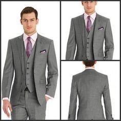 Three-Piece-Groom-Tuxedo-Bridegroom-Business-Dinner-Formal-Suit-Wedding-Men-Suit