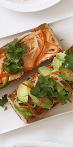 Spicy Avocado Banh Mi  - Three star chefs share their recipes and cook up fresh dishes with this heart-healthy fat: avocado.