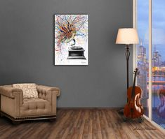 A loud artwork I created with charcoal and acrylics on canvas. I created a room for this setting with a Melbourne city view. The dark lighting helps set this artwork off. Art Walls, Abstract Canvas Art, Photorealism, Australian Artists, Room Art, Acrylics, Melbourne, Charcoal, Original Art