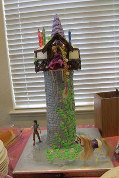 DIY tangled tower cake.