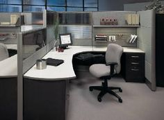 Modern Furniture Long Island on Modern Contemporary Office Cubicle Manhattan Long Island New York Office Cube, Modular Office, Office Workspace, Home Office, Office Decor, Small Office, Office Ideas, Office Cubicles, Retro Office