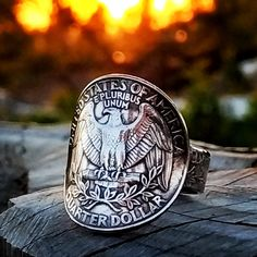 Ring for Women, Ring for Mother, Ring for Wife, Ring for Girlfriend, Eagle Ring, Coin Ring, America Jewelry, America Ring, US Ring, Eagle