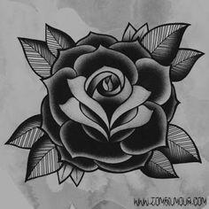 Resultado de imagem para old school tattoo rose design