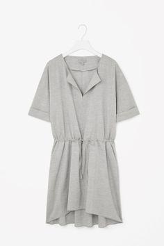 Drawstring tunic dress