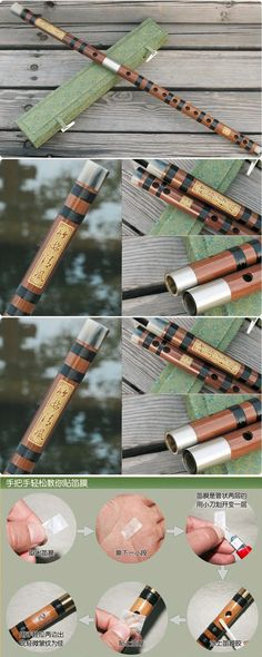 E key chinese handmade Chinese Musical Instrument Bamboo Flute/dizi + Flute case
