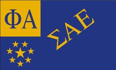 Sigma Alpha Epsilon Flag. Digital printed banner Polyester hand flags, 90x150cm white sleeve with 2 Metal Grommets, 3ft x 5ft