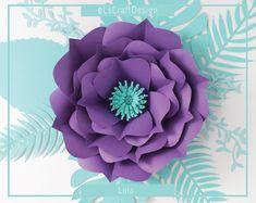 PDF Paper Flower, Paper Flower Template, Big Paper Flower, Giant Paper Flower Template, DIY, Base and Instruction Including