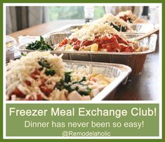 A great way to make always have dinner ready? A freezer meal exchange club- read…