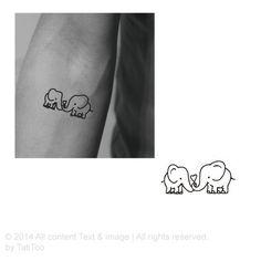 Elephant Temporary Tattoo T113 by TatiToo on Etsy, $4.99