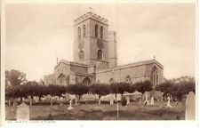 RARE OLD POSTCARD - ST MARY'S CHURCH - THAME - OXFORDSHIRE C.1930