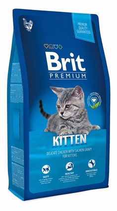 Брит Premium сух для котят с курицей в лососевом соусе, меш 8кг