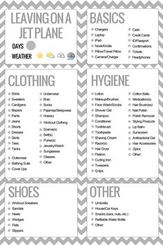 This is such a great little travel/packing list from PinQue blog. StyleLife: Travel Tips | PinQue Blog #travel packing list #traveltips