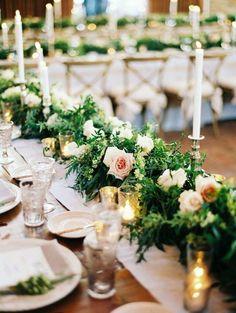 Photo: Erich McVey Photography; Green wedding centerpiece idea
