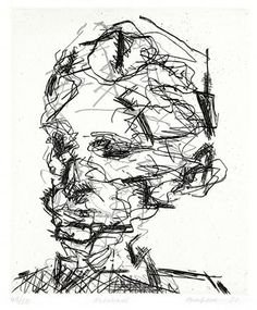 Frank Auerbach ~ Michael, 1990 (etching)