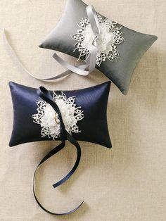 Plata anillo de bodas almohada almohadilla del por louloudimeli