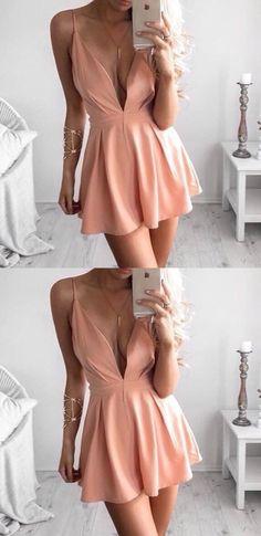 homecoming dresses,short homecoming dresses,cheap homecoming dresses,v-neck homecoming dresses,simple homecoming dresses,