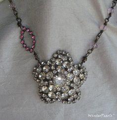 Spring Bride Pink Crystal Vintage Rhinestone by WinterPearls, $60.00