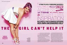 Kelly Osbourne dagger necklace by Catherine Angiel  Cosmo July 2012