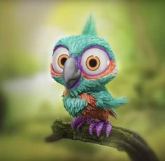 Bird character created by Pierrick Picaut with Blender