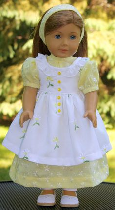 Serre-tête robe et American Girl Doll par buttonandbowboutique