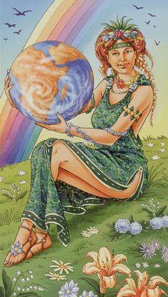 Universal Goddess Tarot The World