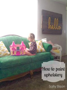 How to paint upholstery - step by step tutorial from Salty Bison via www.thirtyhandmadedays.com