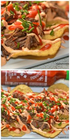 Crockpot Beef Nachos and Sriracha Sauce - Hugs and Cookies XOXO