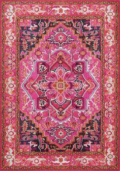 Vintage Mackenzie Pink Area Rug