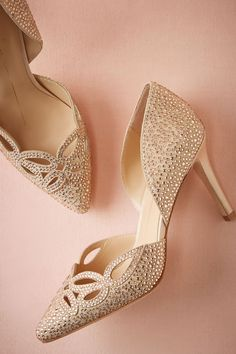 Crystallized Cutout Pumps from @BHLDN
