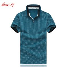 Men Polo Shirts Summer Plus Size Short Sleeve Casual Cotton Slim Fit Dress Shirts Brand Camisa Tops Summer Casual Blouse SL-E481 #Affiliate