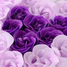 Romanttinen Ruusu muotoinen 18-saippua kukka Kylpyamme Confetti ...