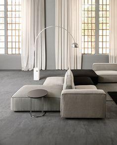 Modular Angular Bifacial Group Medium Sofa by Il Loft in Modular Sofas Modular Sofa Living Room, Living Room Sofa, Living Room Decor, Furniture, Sofa Furniture, Loft Design, Modular Sofa, Loft Furniture, Sofa Design