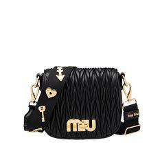 3b6aa5c319 Matelassé Leather Miu Logo Bandoleer Bag Miu Miu Wallet