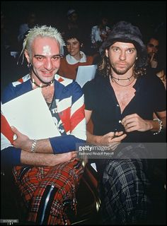 John Galliano and Michael Hutchence - ready to wear fashion show spring summer 1994 collection in Paris.