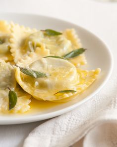 Homemade ravioli with three cheeses and spinach served with sage butter recipe complete with wine pairing. Oh, and a little trip to Chianti.