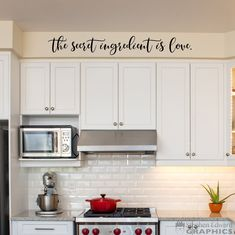 The secret ingredient is love Decal - Kitchen Wall Art Decor