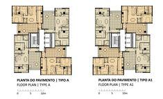 Edificio 360°, Plantas Tipo A, Isay Weinfeld