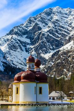 Church in the German Alps right on the Austrian boarder. St. Bartholoma on Lake Konigsee, Germany